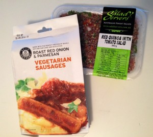 Vegie sausages pack