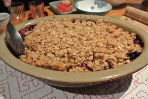 Amy's berry crumble