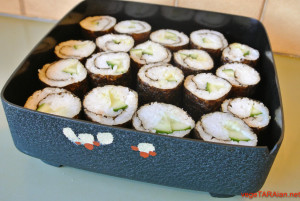 Cooking with Ma – sushi rolls