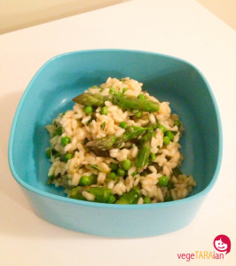 Asparagus, pea and mint risotto