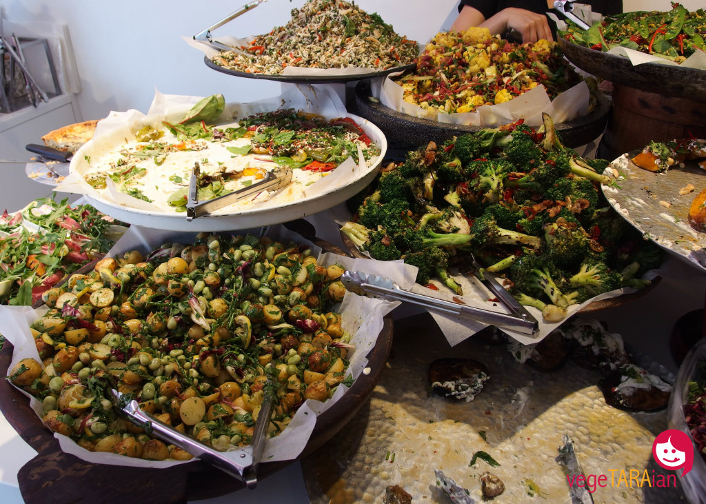 Salads at Ottolenghi, Islington