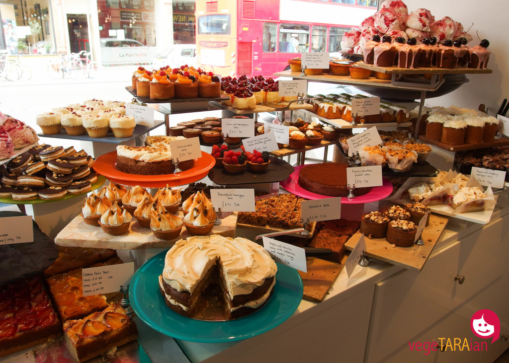 Desserts at Ottolenghi, Islington