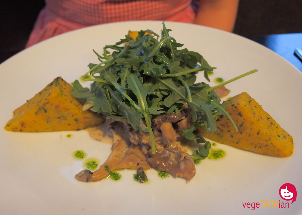 Polenta with mushrooms at The Gate, Clerkenwell