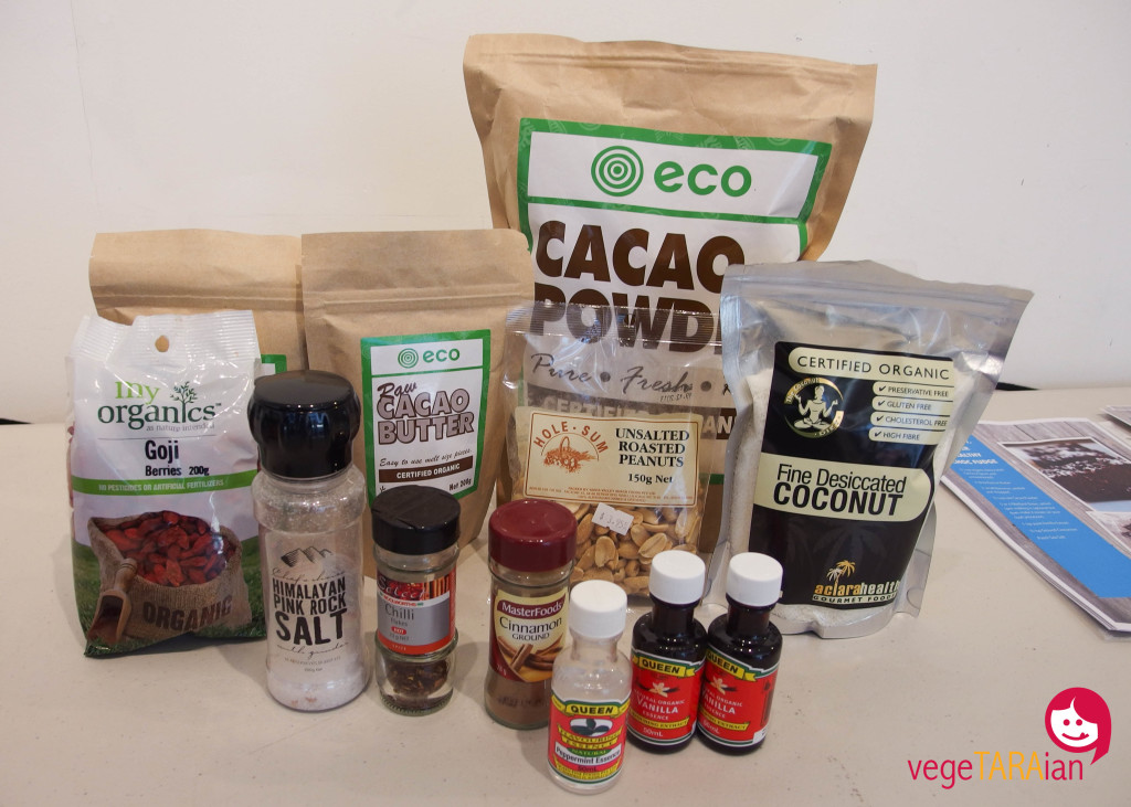 Raw chocolate ingredients