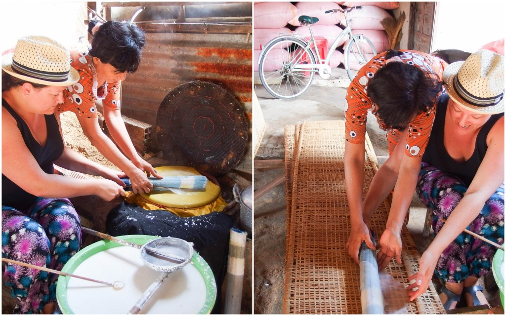 Making rice paper in Ho Chi Minh City
