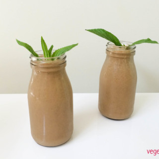 Dairy free choc mint smoothie