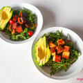 Avocado, rocket and walnut salad