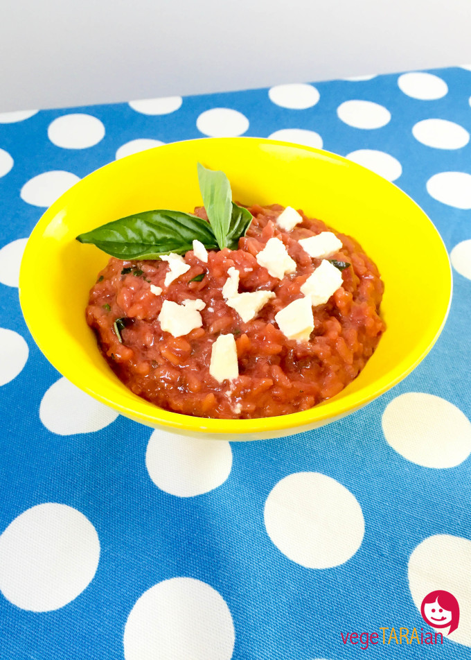 Beetroot risotto with feta