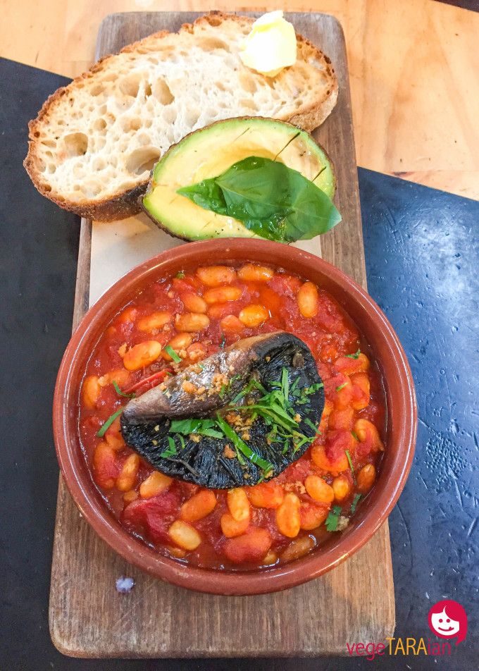 Kitchen by Mike baked beans avo mushroom