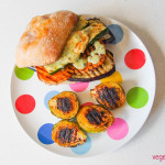 Chargrilled veg burger