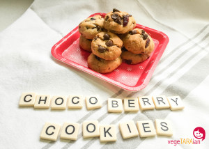 30 second choco-berry cookies
