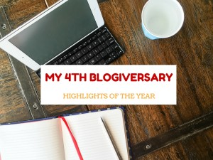 My 4th blogiversary and highlights of the year