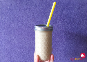 Start your day with a creamy banana smoothie
