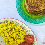 Turmeric tofu scramble and hash brown