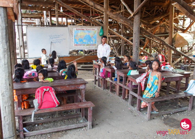 Classroom in Kompong Pluk, Cambodia