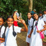 School girls at Dambulla cave temple