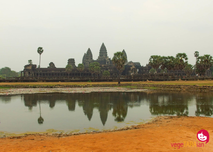Water reflections at Angkor Wat
