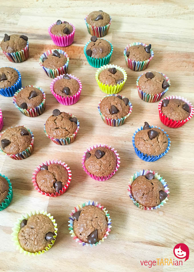 Coconut chocolate mini muffins