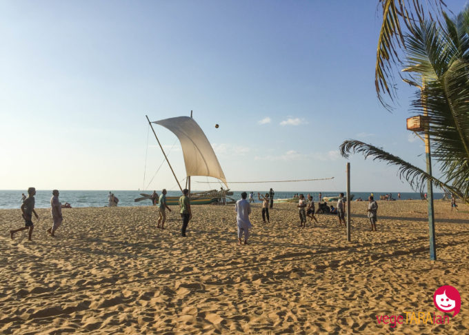 Volleyball at Negombo Beach