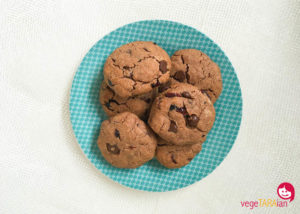30 second chocolate and cranberry cookies