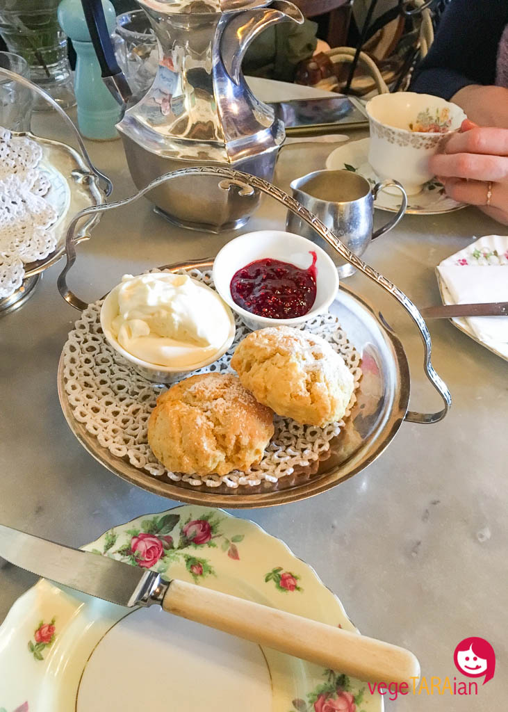 Scones with raspberry jam at Dirty Jane's, Bowral