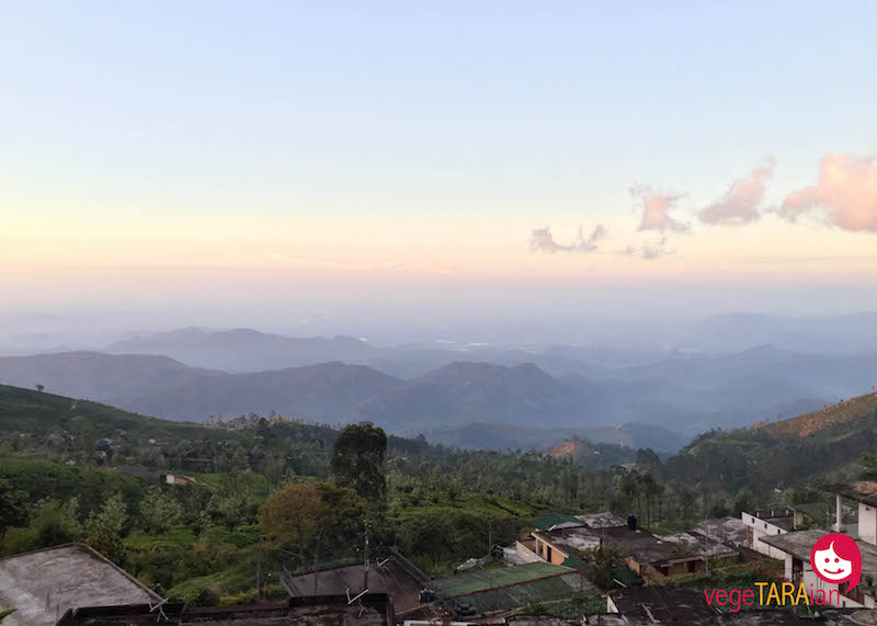 Sunrise view from Haputale hotel