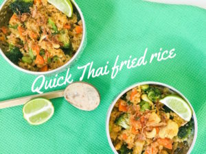 Quick Thai pineapple fried rice
