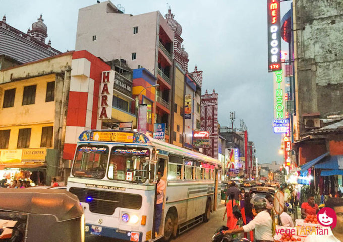 The bustling city of Colombo