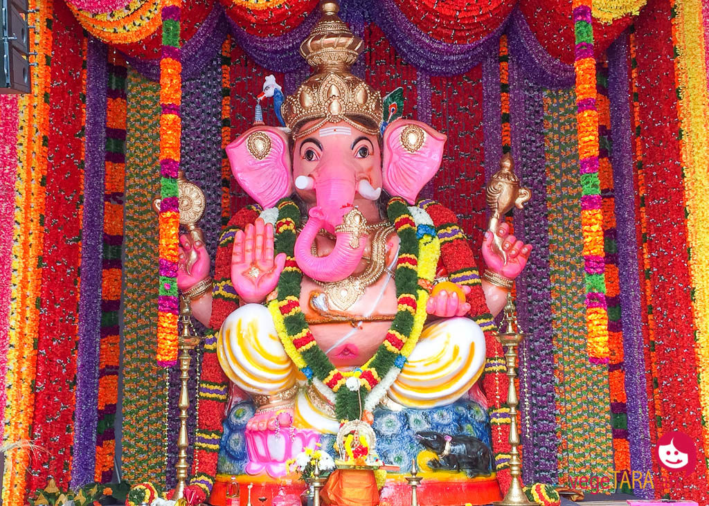 A colourful elephant God in Little India
