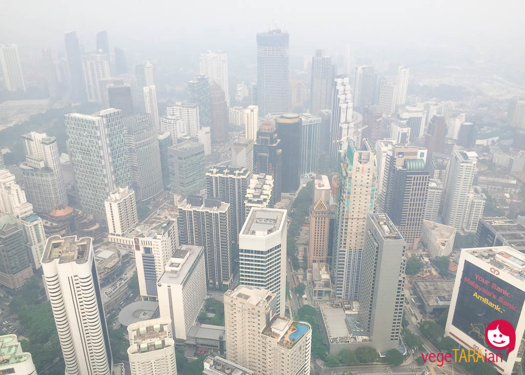 A hazy view from KL Tower