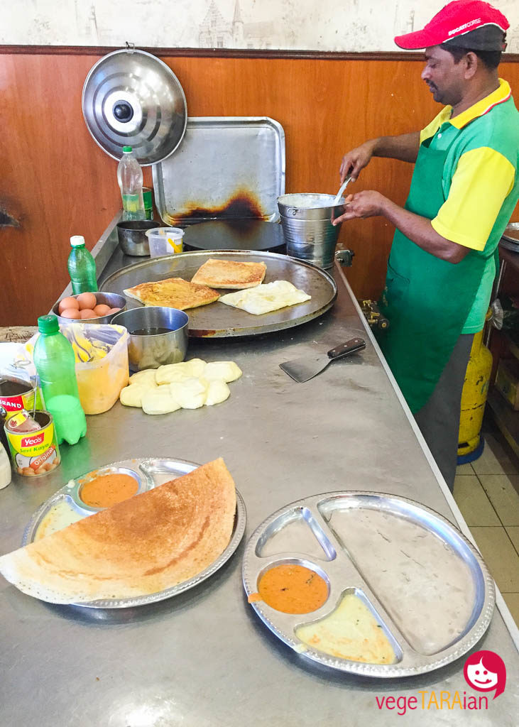 Roti cooking in the Cameron Highlands, Malaysia