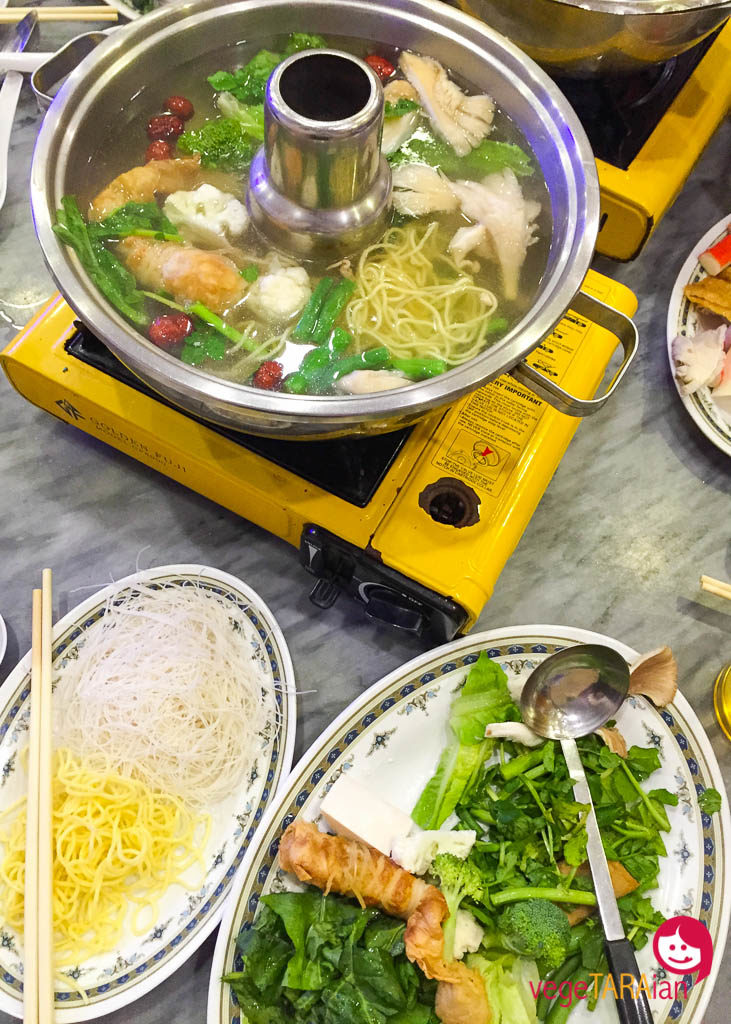 A vegetarian steamboat in the Cameron Highlands, Malaysia