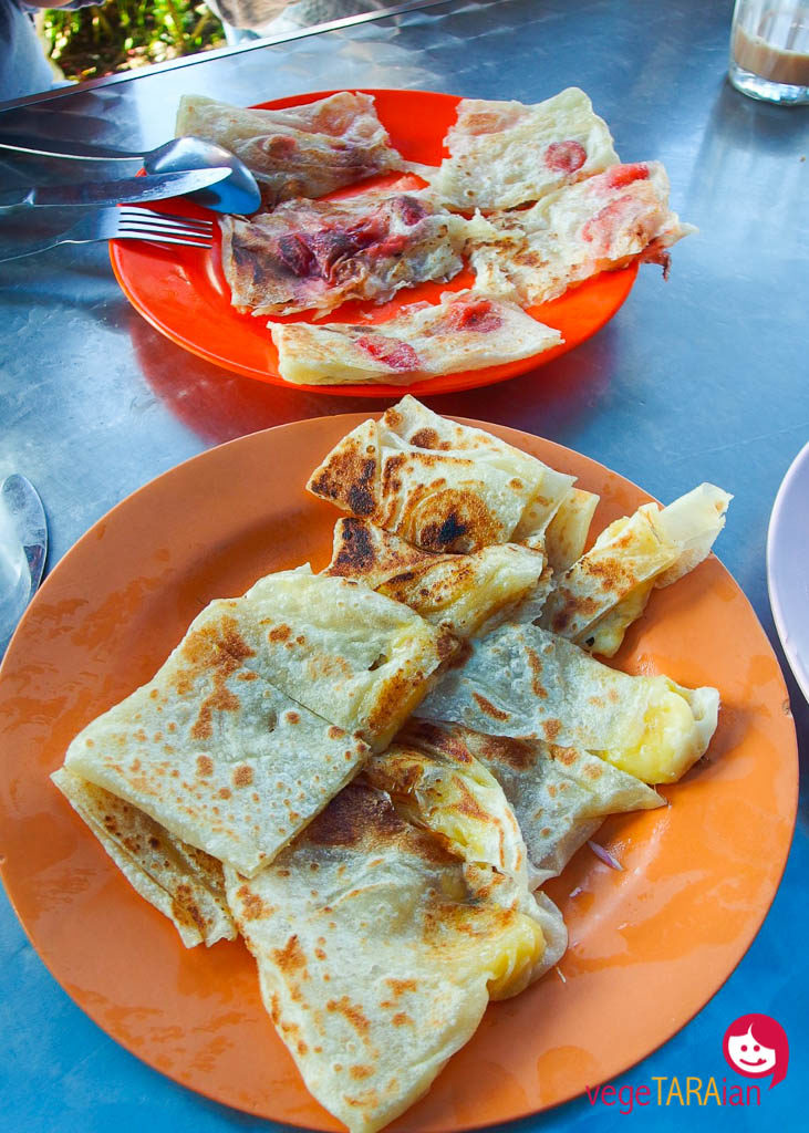 Banana roti and strawberry roti in the Cameron Highlands, Malaysia